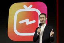 Kevin Systrom, CEO and co-founder of Instagram, prepares for Wednesday's announcement about IGTV in San Francisco.