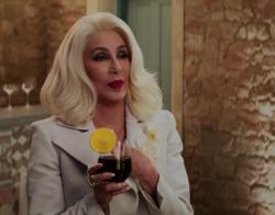 "Cher in the trailer for ""Mamma Mia! Here We Go Again."""