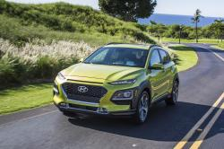 This undated photo provided by Hyundai shows the all-new 2018 Kona, a subcompact crossover