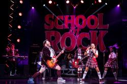 "Coletti and members of the children's band in ""School of Rock."""
