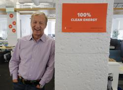 In this photo taken Wednesday, June 27, 2018, environmental activist & billionaire Tom Steyer poses at his offices in San Francisco.