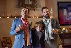 "Steve Coogan, Jack Gore and Paul Rudd in ""Ideal Home."""