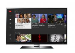 This image provided by Google shows a page of Local news in the free YouTube app for TV screens