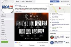 "This screenshot from the Facebook page of K105-FM in Fort Wayne, Ind., shows what appears to be a promotional image falsely claiming that Disney plans to release a star-studded revival of the film ""The Hunchback of Notre Dame."""