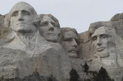 The Mount Rushmore monument.