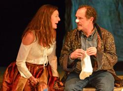 Andrea Goldman and Jeremiah Kissel in 'Cyrano,' continuing through Aug. 11 at Gloucester Stage Company