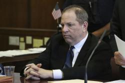Harvey Weinstein attends his arraignment in court in New York.