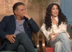 Andy Garcia, left, with Cher