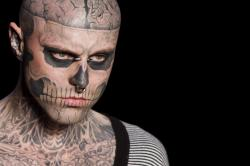 Canadian model Rick Genest, aka Zombie Boy
