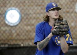 Milwaukee Brewers relief pitcher Josh Hader