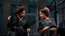 "Lynda Gravátt and Marie Thomas in ""The House That Will Not Stand"" at the New York Theatre Workshop until August 19. (Photo: Joan Marcus)"