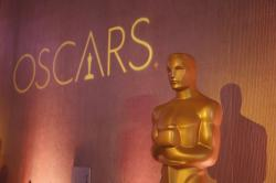 An Oscar statue is places inside the ballroom at the 89th Academy Awards Nominees Luncheon in Beverly Hills, Calif.