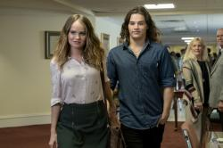 "Debby Ryan, left, with James Lastovic in a scene from Netflix's ""Insatiable."""