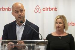 Airbnb Public Policy manager Josh Meltzer, left, with Margaret Richardson, Airbnb Director of Global Policy.