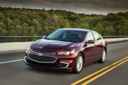 This undated photo provided by General Motors shows the 2018 Chevrolet Malibu Hybrid. The vehicle offers noise-reducing side windows, Apple CarPlay and in-car Wi-Fi