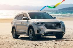 This undated photo provided by Hyundai Motor America shows the 2018 Hyundai Santa Fe