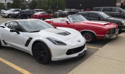 Muscle car fans consider the Ford Mustang, Chevrolet Camaro and Corvette and the Dodge Challenger and Charger to be the mainstays of Detroit performance cars. But their combined sales fell 7 percent in 2016, 11 percent last year, and are down almost 10 percent for the first half of 2018, according to numbers provided by Kelley Blue Book. (AP Photo/Carlos Osorio) 1 of 3