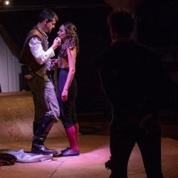 """Dillon Medina and Alison Russo in """"Shakespeare in Love"""" at the Burbage Theatre Company through September 16."""