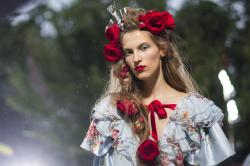 Rodarte's latest collection at New York Fashion Week.
