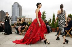 Oscar de la Renta's spring 2019 collection is modeled during New York Fashion Week.