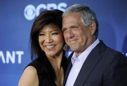 Les Moonves, right, president and CEO of CBS Corporation, and his wife Julie Chen