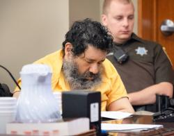 In this June 13, 2018, file photo convicted killer Anthony Garcia attends a hearing at the Douglas County District Court in Omaha, Neb.