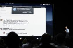 In this June 4, 2018, photo Craig Federighi, Apple's senior vice president of Software Engineering, speaks during an announcement of new products at the Apple Worldwide Developers Conference in San Jose, Calif.