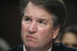 In this Sept. 6, 2018 photo, Supreme Court nominee Brett Kavanaugh testifies before the Senate Judiciary Committee on Capitol Hill in Washington