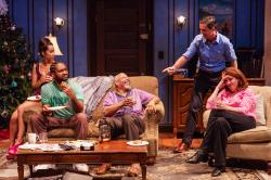 The cast of SpeakEasy Stage Company's production of 'Between Riverside and Crazy,' continuing through Oct. 13 at the Boston Center for the Arts