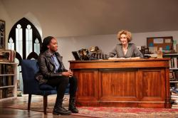 Jordan Boatman and Lisa Banes in Huntington Theatre Company's production of 'The Niceties,' continuing through Oct. 6