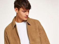 Topman Tan Suede Harrington Jacket