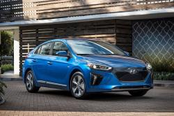 This undated photo provided by Hyundai shows the 2018 Hyundai Ioniq Electric, an affordable electric car that gets 124 miles of range on a charge