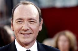 Kevin Spacey arrives at the 60th Primetime Emmy Awards in Los Angeles.