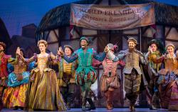"A scene from ""Something Rotten!"" that runs through October 7 at the Fisher Theatre in Detroit."
