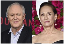 John Lithgow, left, and Laurie Metcalf