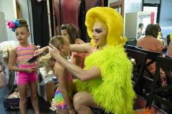 From left to right: Atlee, Ainsley, Tina, and Alyssa Edwards