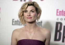 In this July 21, 2018 file photo, Jodie Whittaker attends the Entertainment Weekly Comic-Con Celebration in San Diego.