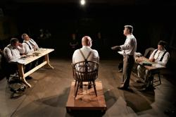 "A scene from Attleboro Community Theatre's production of ""Inherit the Wind."""