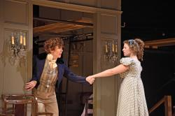 "Rachael Warren and Rebecca Gibel as in Trinity Rep's ""Pride and Prejudice"" through November 4."