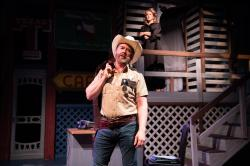 "Michael Ray Wisely and mainstay Dyan McBride in ""The Best Little Whorehouse in Texas"" at the Gateway Theatre through October 21."