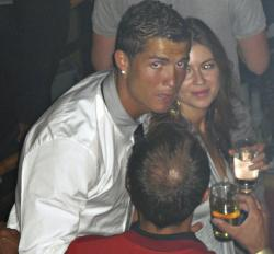 Soccer star Cristiano Ronaldo is pictured with Kathryn Mayorga in Rain Nightclub in Las Vegas.