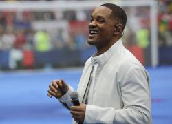 Will Smith performs during the closing ceremony prior to the final match between France and Croatia at the 2018 soccer World Cup in the Luzhniki Stadium in Moscow, Russia.