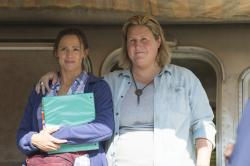 "Jennifer Garner, left, and Bridget Everett, right, in a scene from HBO's ""Camping."""