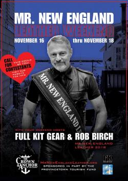Mr. New England Leather Weekend Hits Provincetown November 16-18,