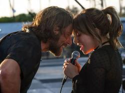 "Bradley Cooper and Lady Gaga in ""A Star is Born."""