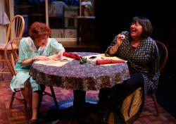 "Paula Plum and Adrianne Krstansky in ""The Roommate"" at the Lyric Stage through November 18."