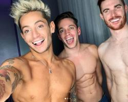 From left to right: Frankie Grande, Daniel Sinasohn and Mike Pophis.