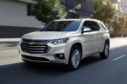 This undated photo provided by General Motors shows the 2019 Chevrolet Traverse