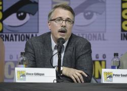 """Breaking Bad"" creator Vince Gilligan speaks at the ""Better Call Saul"" panel at Comic-Con International in San Diego."