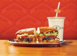 Turducken sandwich and Pumpkin Pie shake.